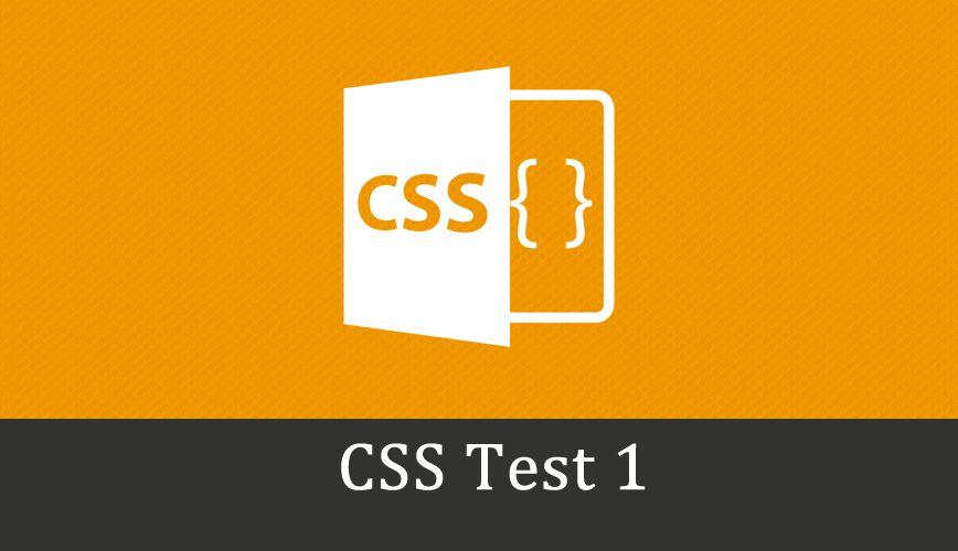 Css Online Test 1