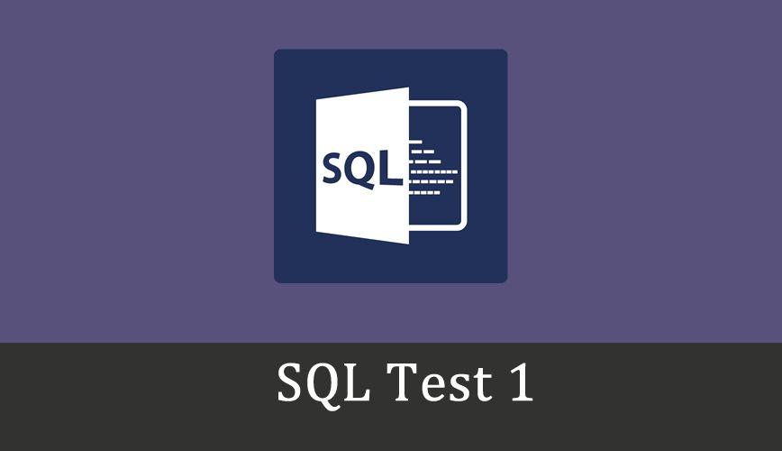 Sql Online Test 1