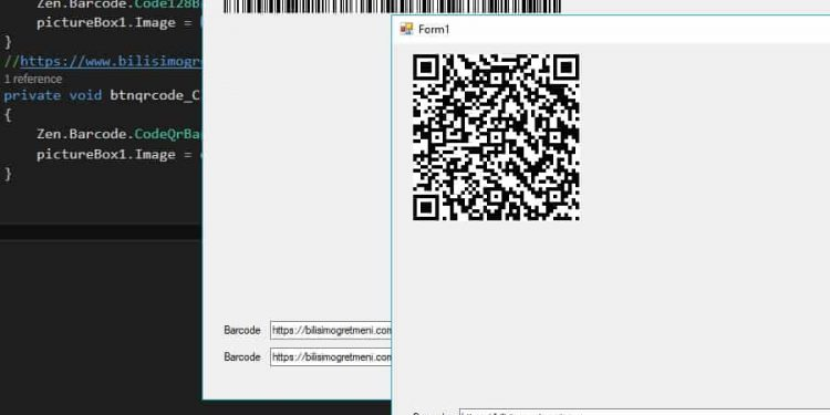 c# barcode ve qrcode oluşturma