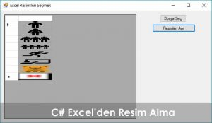 C# Excel'den Resim Alma