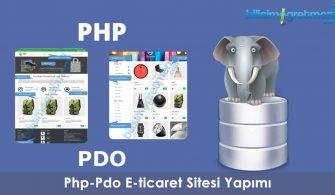 php pdo e-ticaret sitesi yapimi