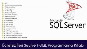 Ücretsiz İleri Seviye T-SQL Programlama Kitabı