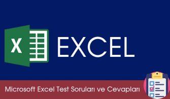 Microsoft Excel Test Soruları ve Cevapları