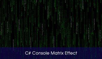 c# Console  matrix
