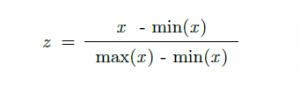 Min-Max Normalleştirme