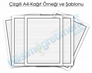 A4 Kağıt Şablon Örneği