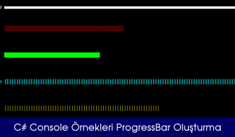 C# Console Örnekleri ProgressBar Oluşturma