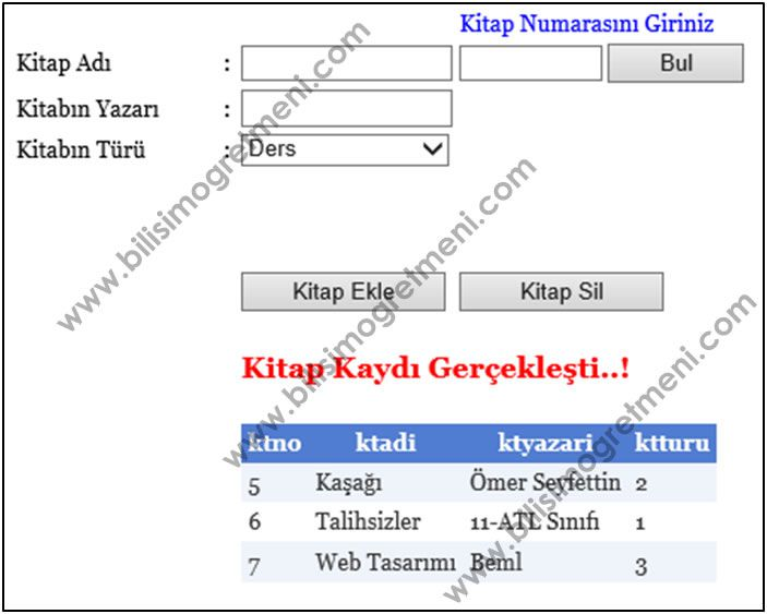 Web Tasarım ve Programlama Dersi 2.Dönem 1.Uygulama Sınav Soruları ASP.net