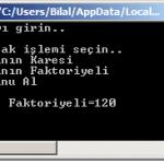 Visual Studio C# Dersleri – C# ile Girilen sayının Kare, Faktöriyel ve Modunu Alma